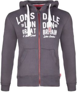 Lonsdale London Herren Sweatjacket 113334 WEST BROMWICH Hooded Zipsweat