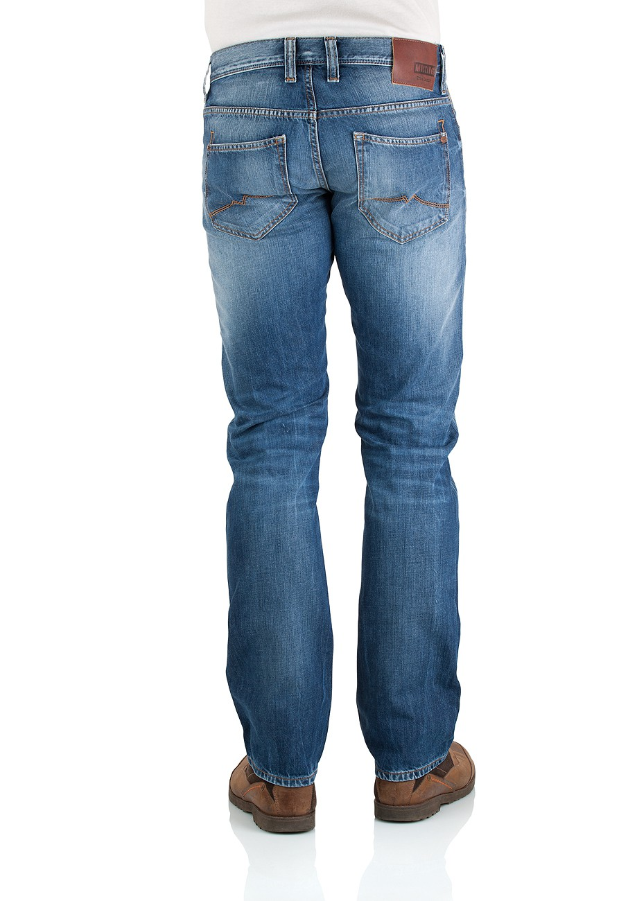 Mustang Herren Jeans New Oregon - Straight Fit - Light Sratched Used