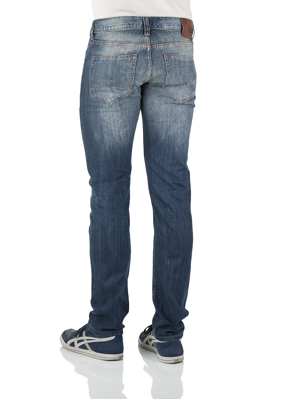Mustang Herren Jeans Oregon Tapered - Slim Fit - Strong Bleach
