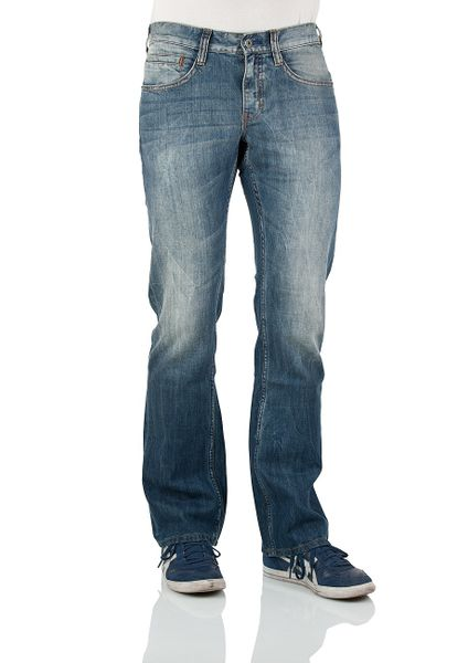 Mustang Herren Jeans Oregon - Bootcut - Strong Bleach Slim Fit