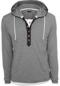 Urban Classics Herren Fine Stripe Button Jersey