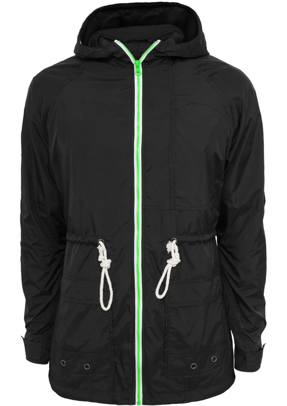 Urban Classics Herren Long Nylon Windbreaker