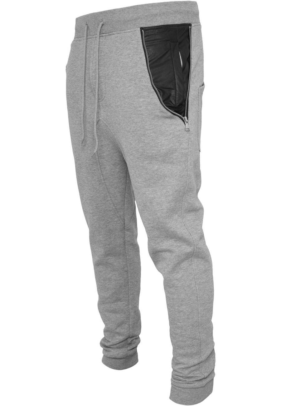 Urban Classics Herren Hose Side Zip Leather Pocket Sweatpant