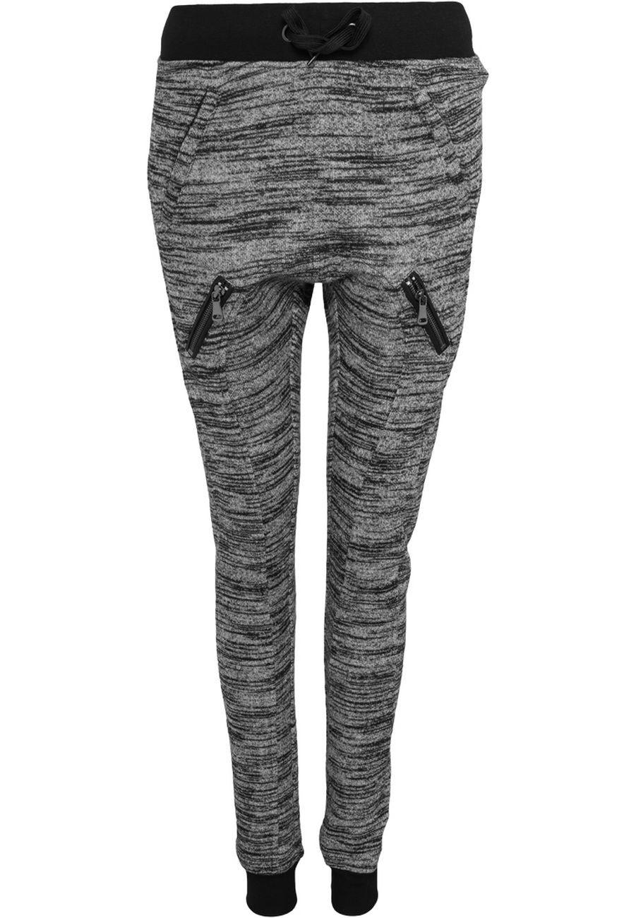 Urban Classics Damen Fitted Melange Zip Sweatpants
