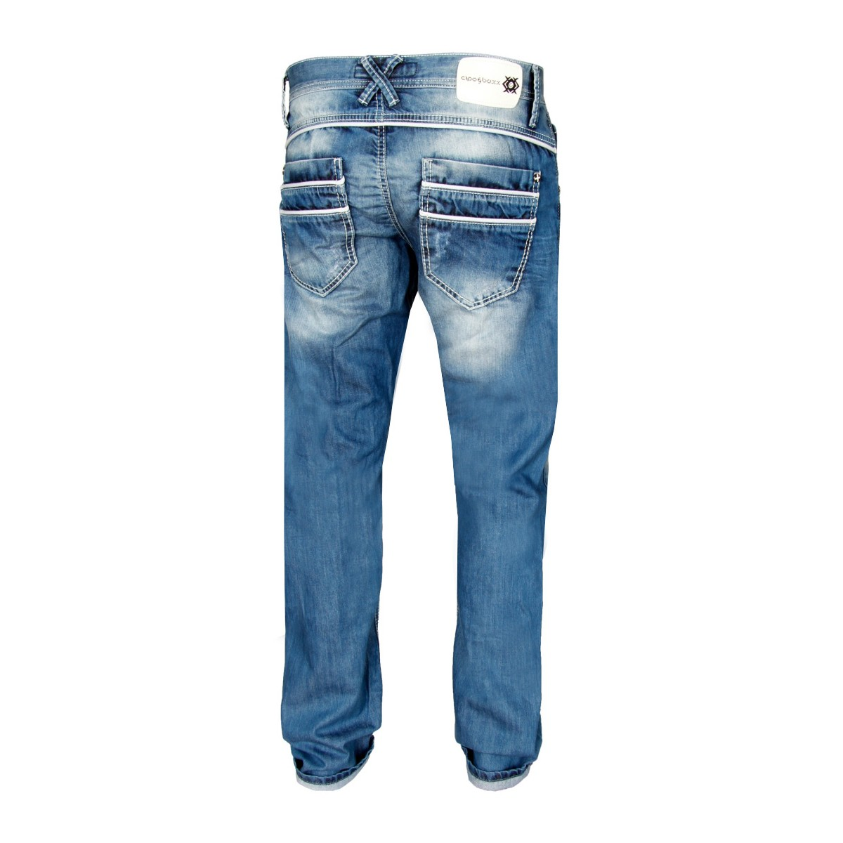 Cipo & Baxx Herren Jeans White Line - Regular Fit -  Blau