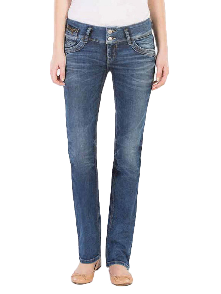 LTB Damen Jeans Jonquil Slim Straight Blue Lapis Wash