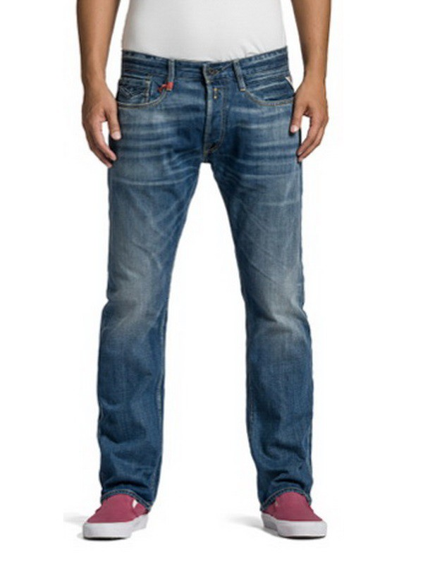 Replay Herren Jeans Newbill - Regular Fit - Mid Blue