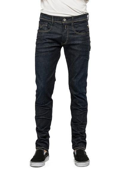 Replay Hyperflex Herren Jeans Anbass - Slim Fit - Dark Blue