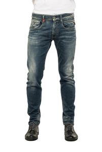Replay Hyperflex Herren Jeans Anbass - Slim Fit - Medium Blue