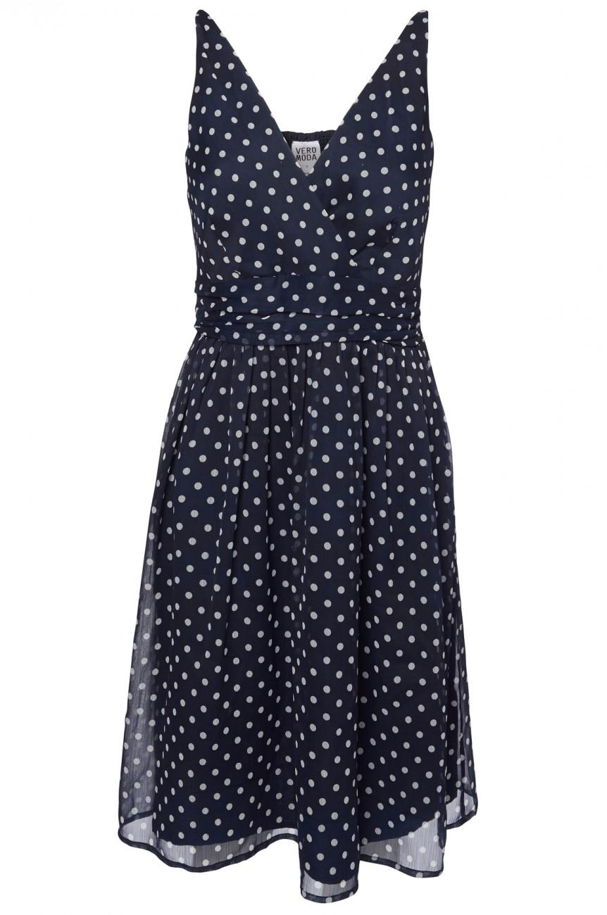 Vero Moda Damen Kleid 10133397 VMJOSEPHINE SL ABOVE KNEE DRESS