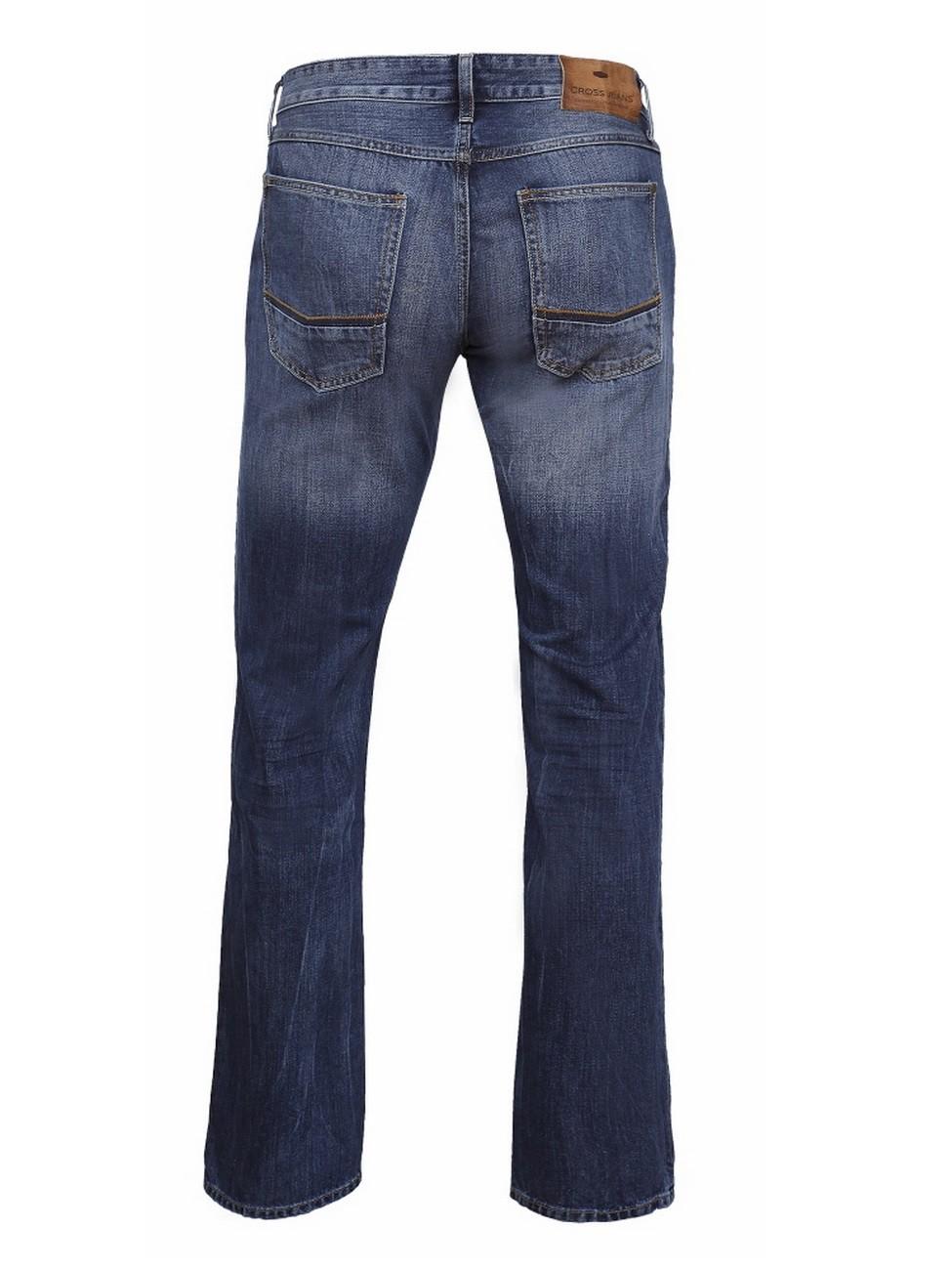Cross Jeans Herren Jeans Antonio - Relax Fit - Deep Blue Worn Out