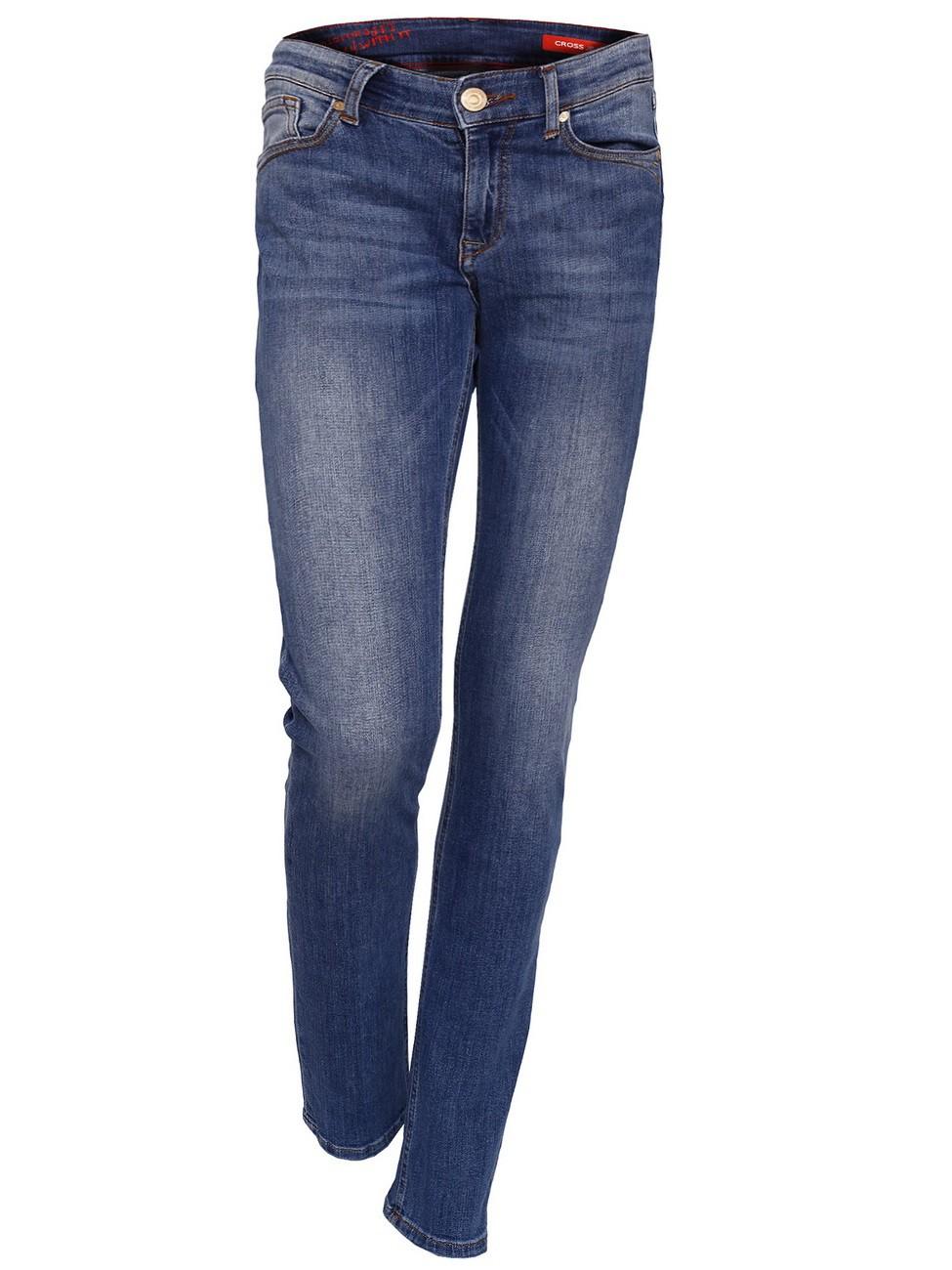 Cross Jeans Damen Jeans Anya - Slim Fit - Blue Used