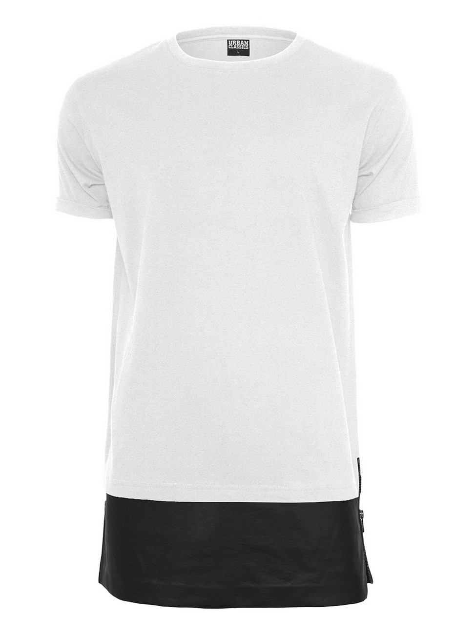 Urban Classics Herren Long Zipped T-Shirt
