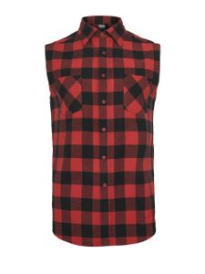 Urban Classics Herren SLeeveless Checked Flanell T-Shirt