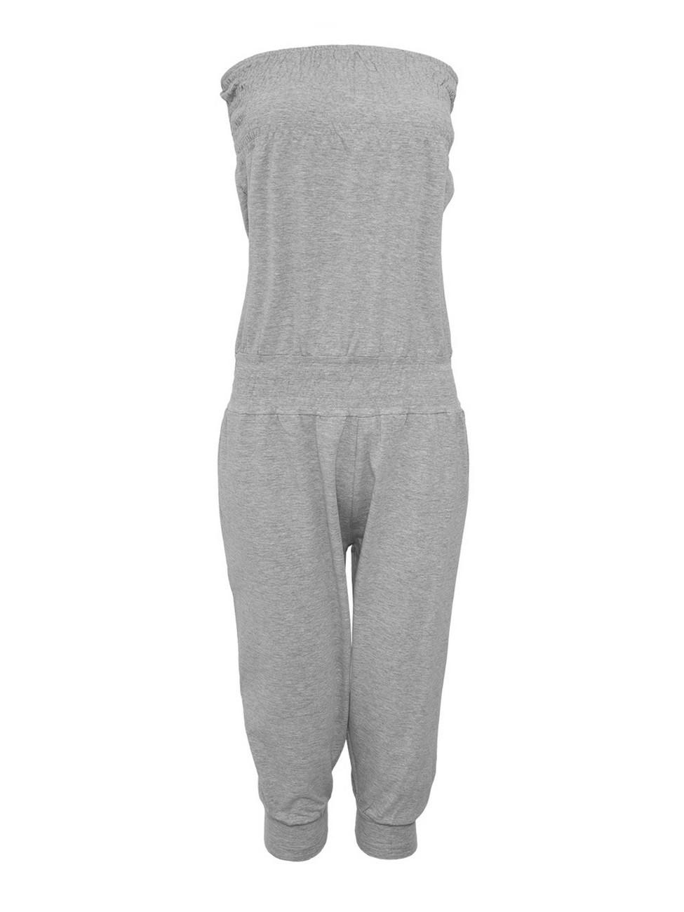 Urban Classics Damen Shoulderfree Capri Jumpsuit