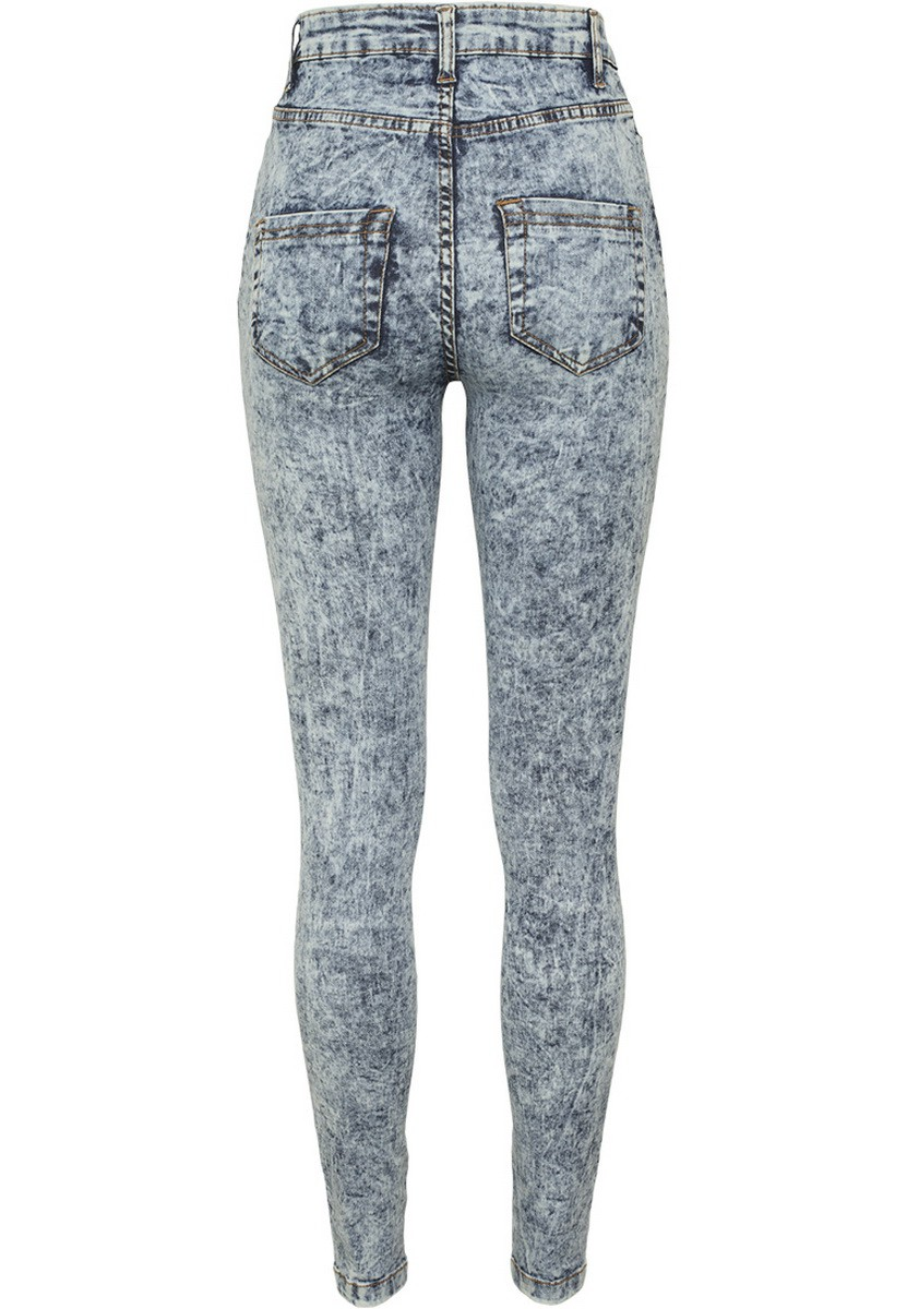 Urban Classics Damen High Waist Denim Skinny Pants