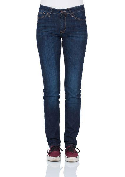 Cross Jeans Damen Jeans Anya - Slim Fit - Dark Blue Used