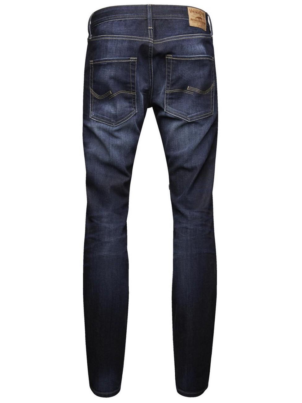 Jack & Jones Herren Jeans JJCLARK - Regular Fit - Blue Denim