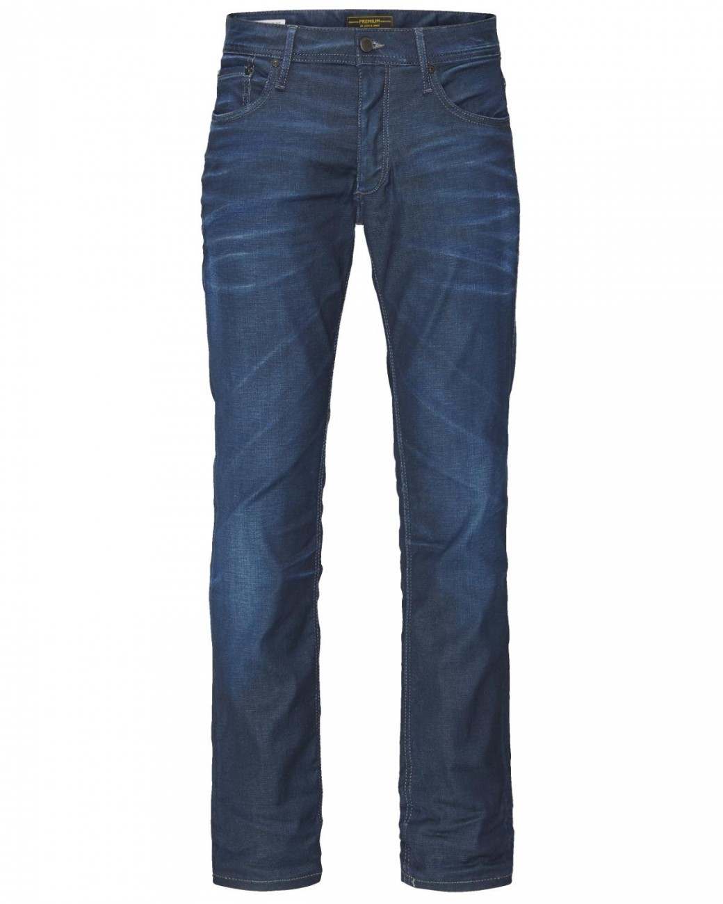 Jack & Jones Herren Jeans JJTIM - Slim Fit - Blau - Medium Blue Denim