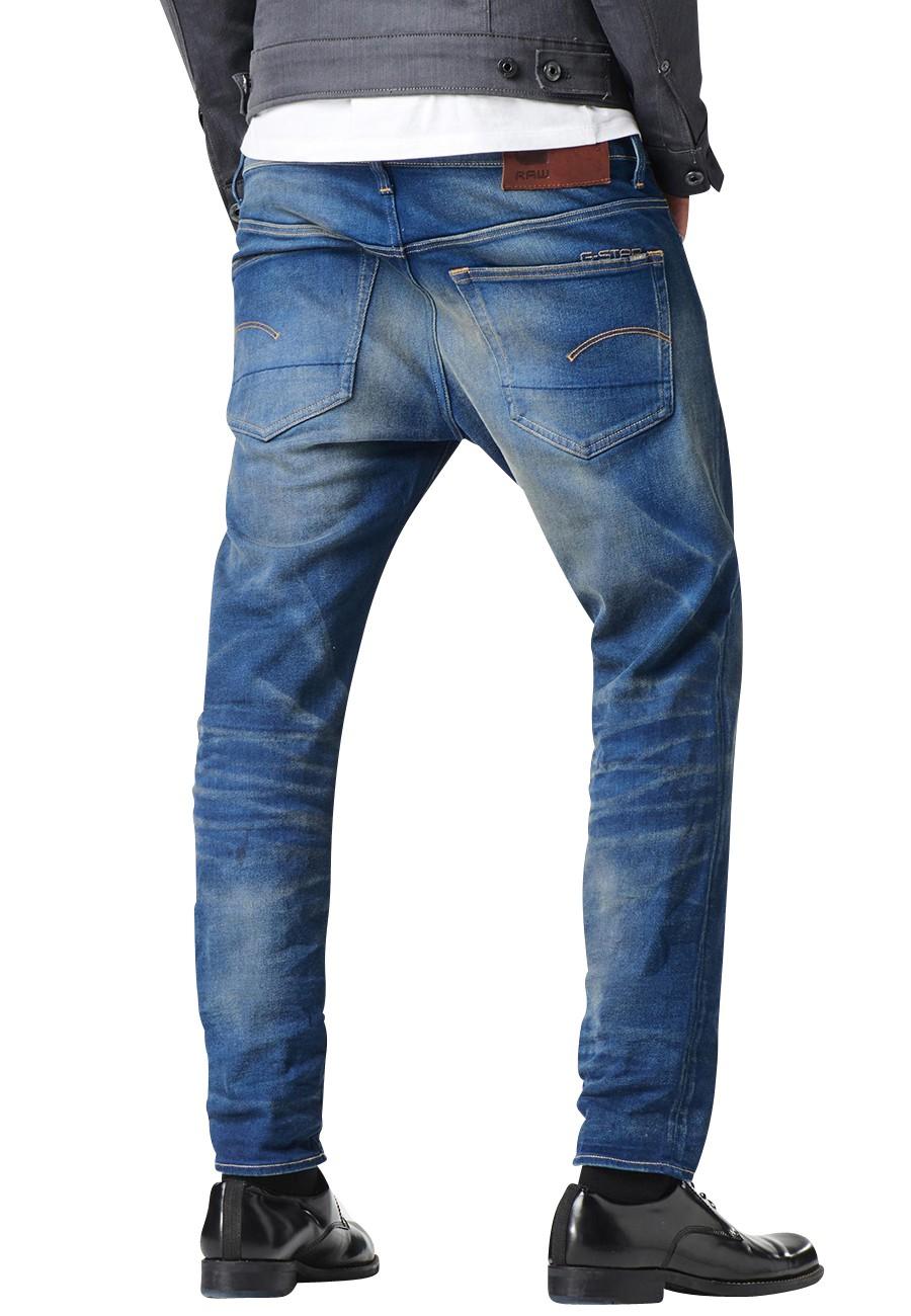 g-star-jeans-3301-slim-herren-jeans-medium-aged-blau