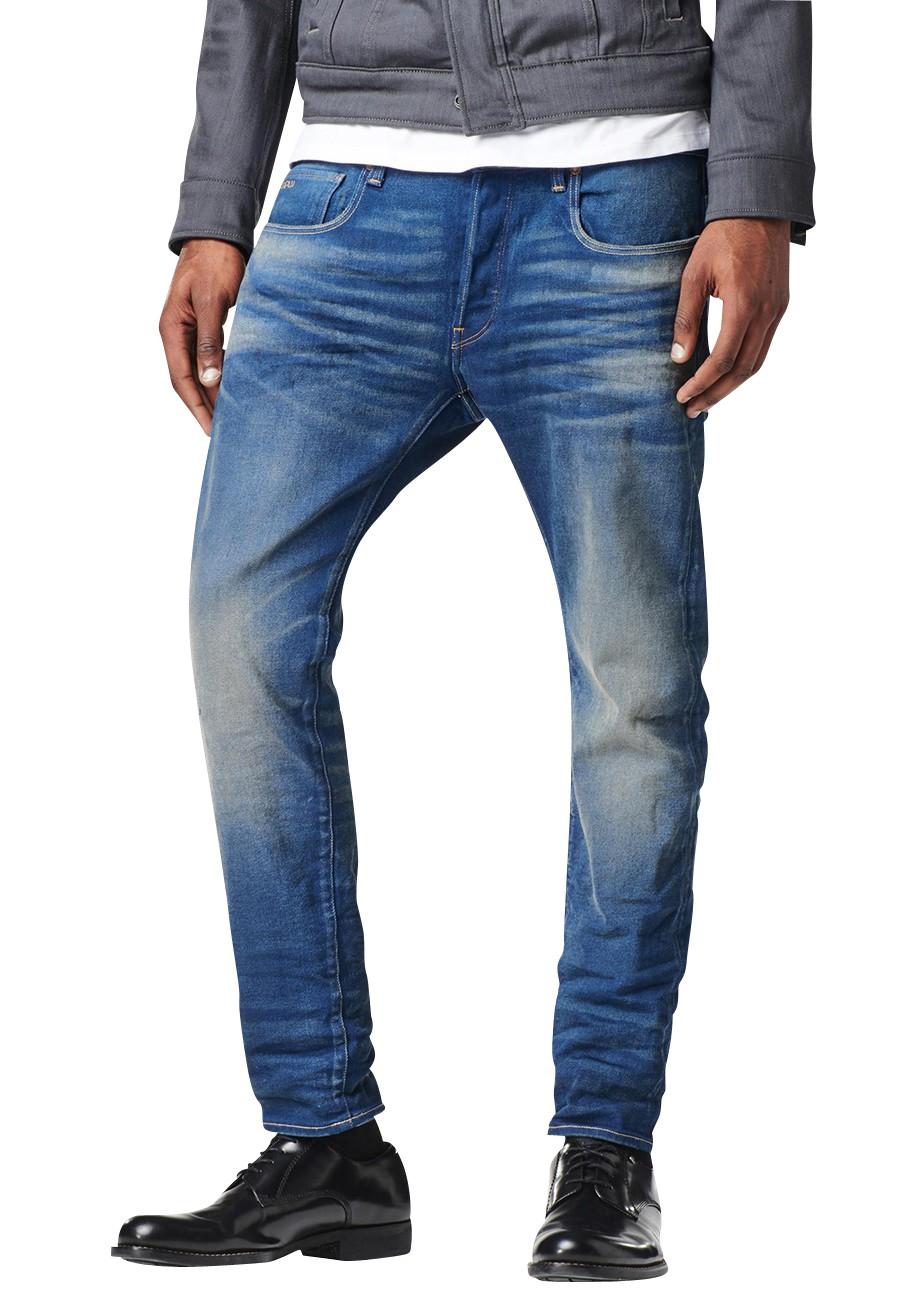 G-Star Jeans 3301 Slim Herren Jeans - Medium Aged - Blau