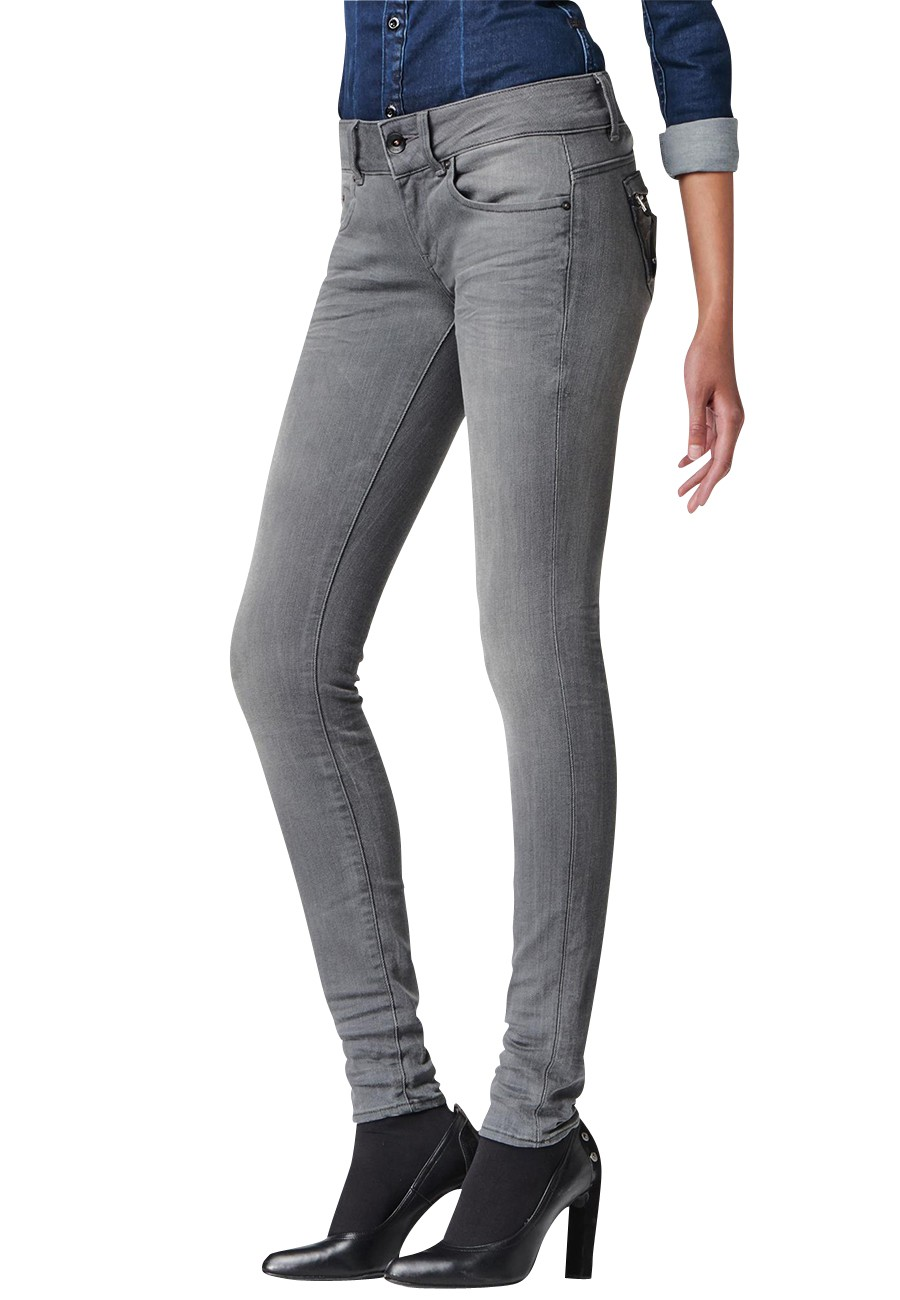 G-Star Jeans Midge Cody Skinny Damen Jeans slander - Grey Superstretch