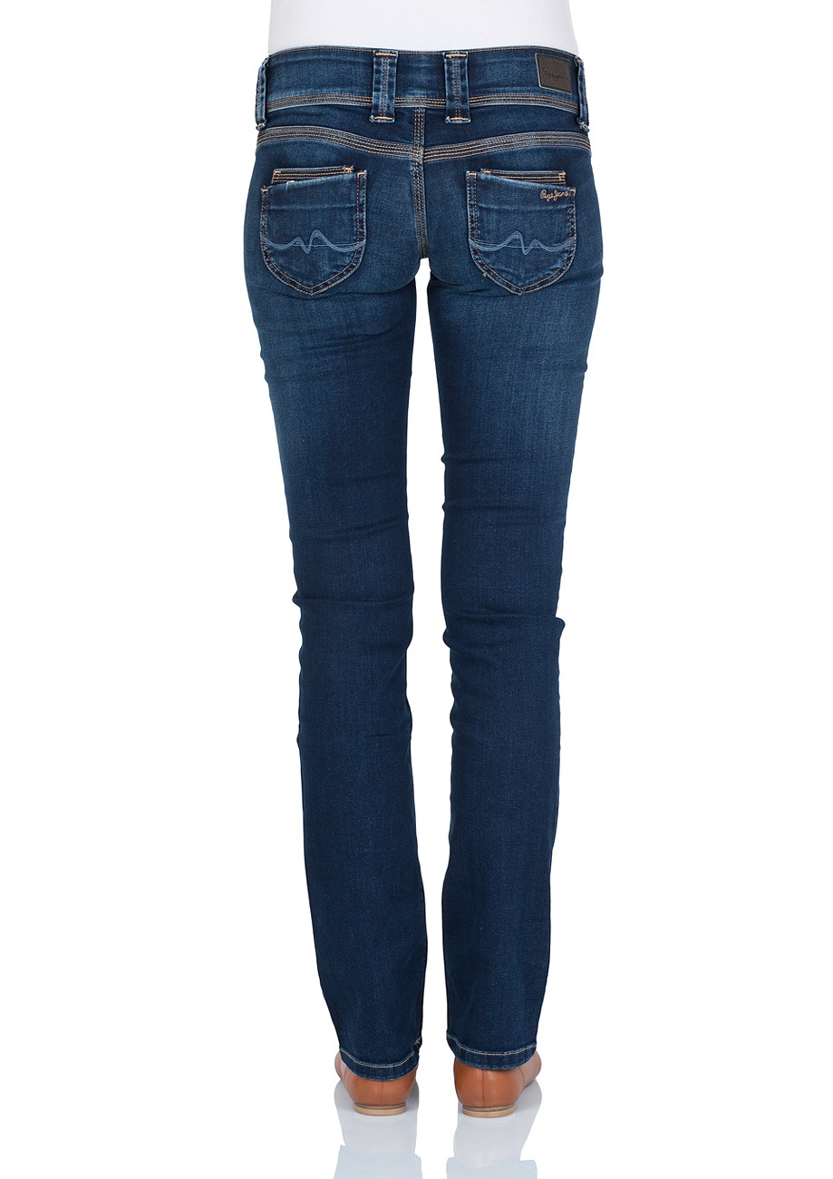 Pepe Jeans Damen Jeans Venus - Regular Fit - Mid Blue
