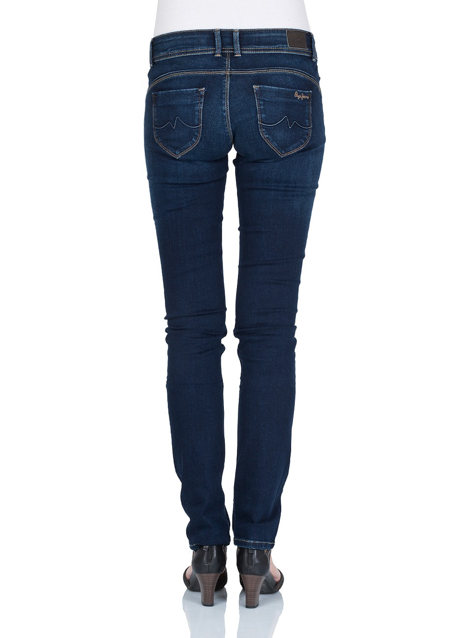 Pepe Jeans Damen Jeans New Brooke - Slim Fit - Mid Blue