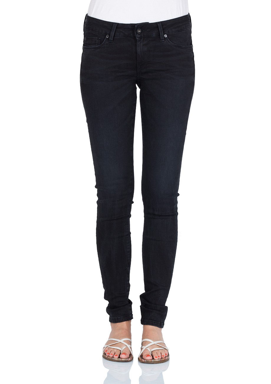Pepe Jeans Damen Jeans Soho - Regular Fit - Washed Black