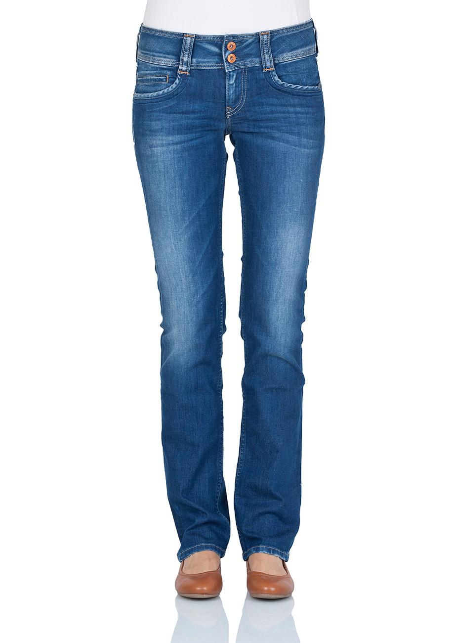Pepe Jeans Damen Jeans Gen - Regular Fit - Royal Blue