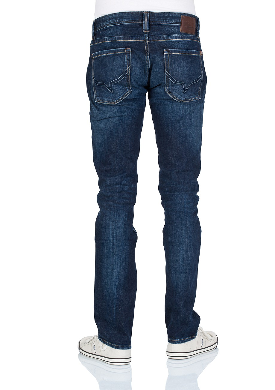 Pepe Jeans Herren Jeans Cash - Regular Fit - Dark Blue