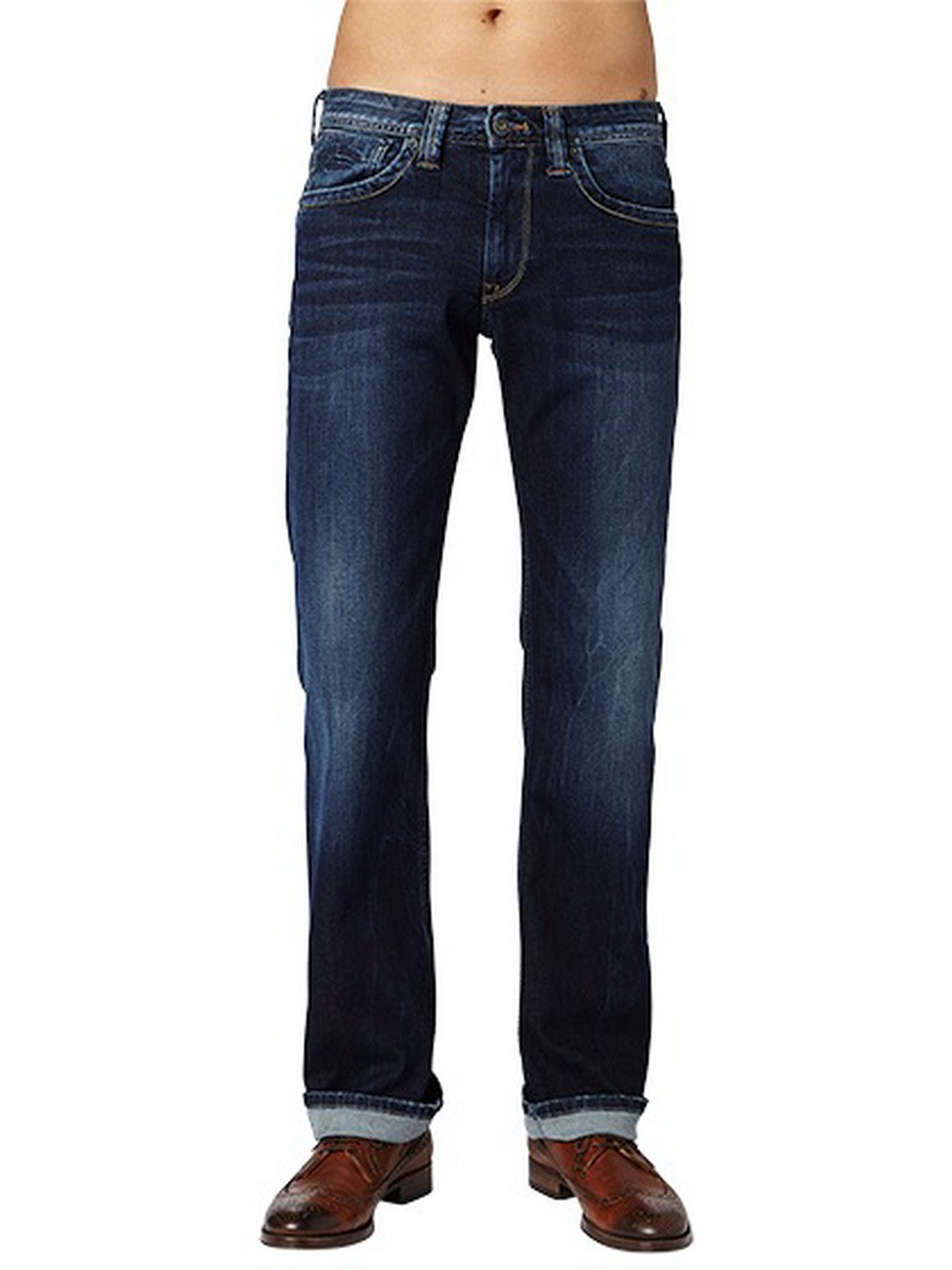 Pepe Jeans Herren Jeans Kingston Zip - Regular Fit - Dark Blue