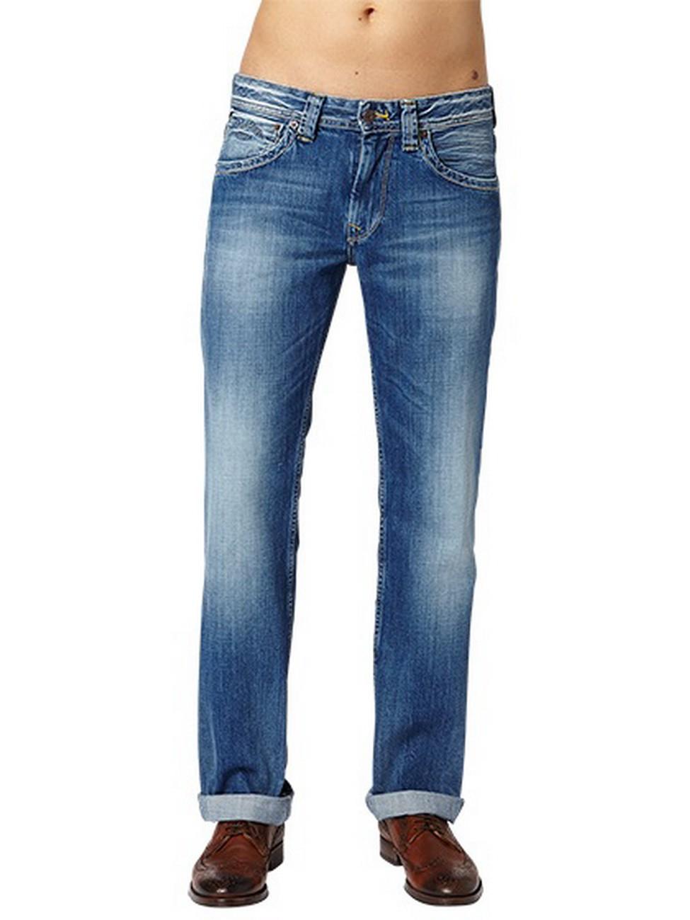 Pepe Jeans Herren Jeans Kingston Zip - Regular Fit - Sanfore Twist