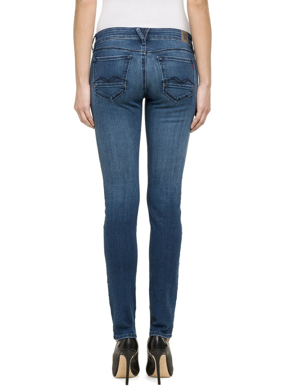 Replay Damen Jeans Rose - Skinny Fit - Mid Blue