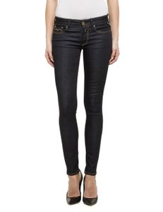 Replay Damen Jeans Luz - Skinny Fit - Dark Indigo
