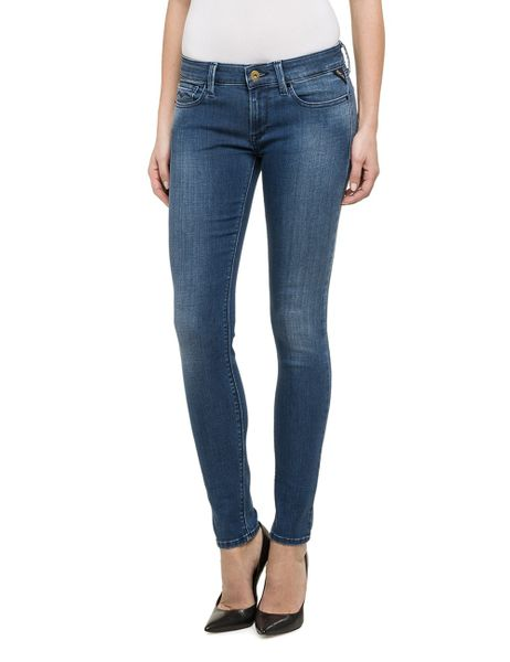 Replay Damen Jeans Luz - Skinny Fit - Mid Blue