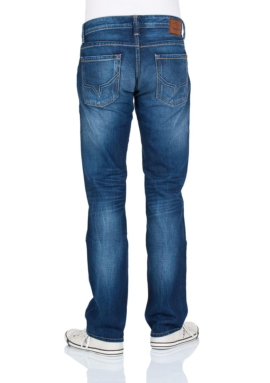 Pepe Jeans Herren Jeans Kingston Zip - Regular Fit - Rope Dye Glory Dk