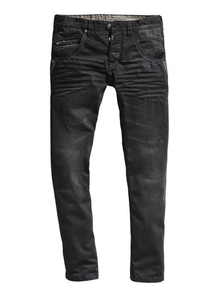 Timezone Herren Jeans HaroldTZ rough - Regular Fit - Black Faced Wash