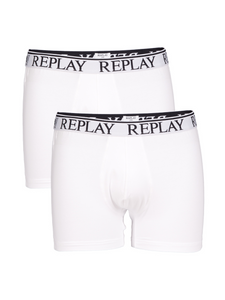 Replay Herren Boxershort Elastic Cotton - 2er Pack