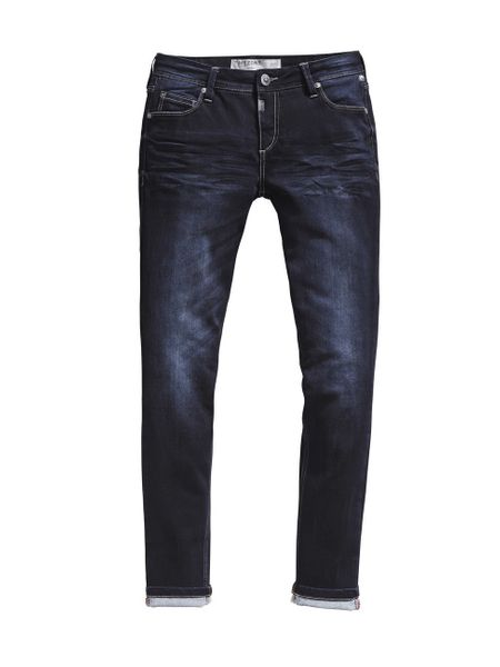 Timezone Damen Jeans ALeenaTZ - Tight Fit - Noble Blue Wash