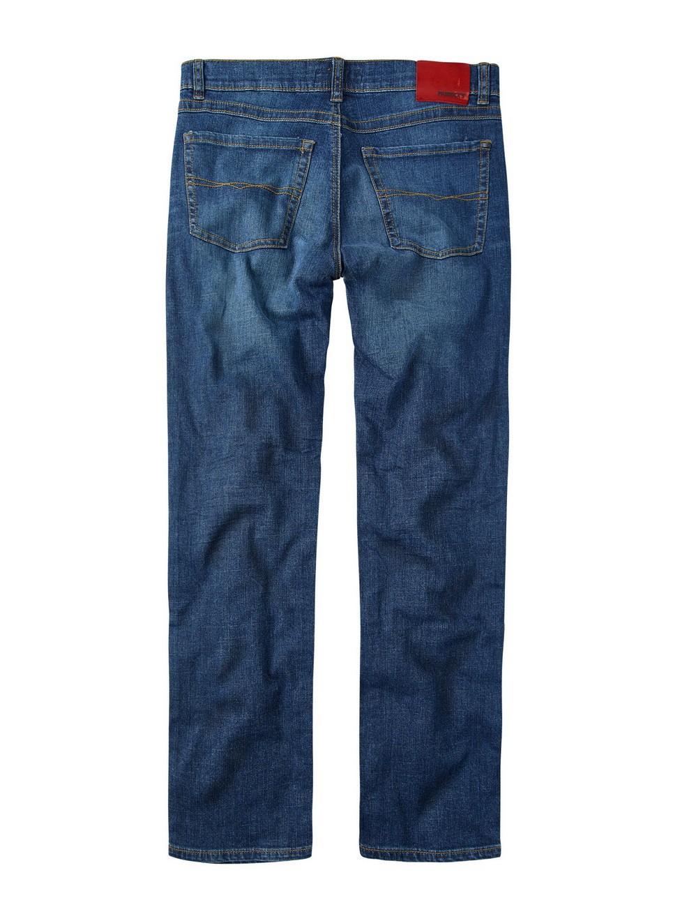 Paddock`s Herren Jeans Carter - Regular Fit - Blau - Blue Dark Stone Used