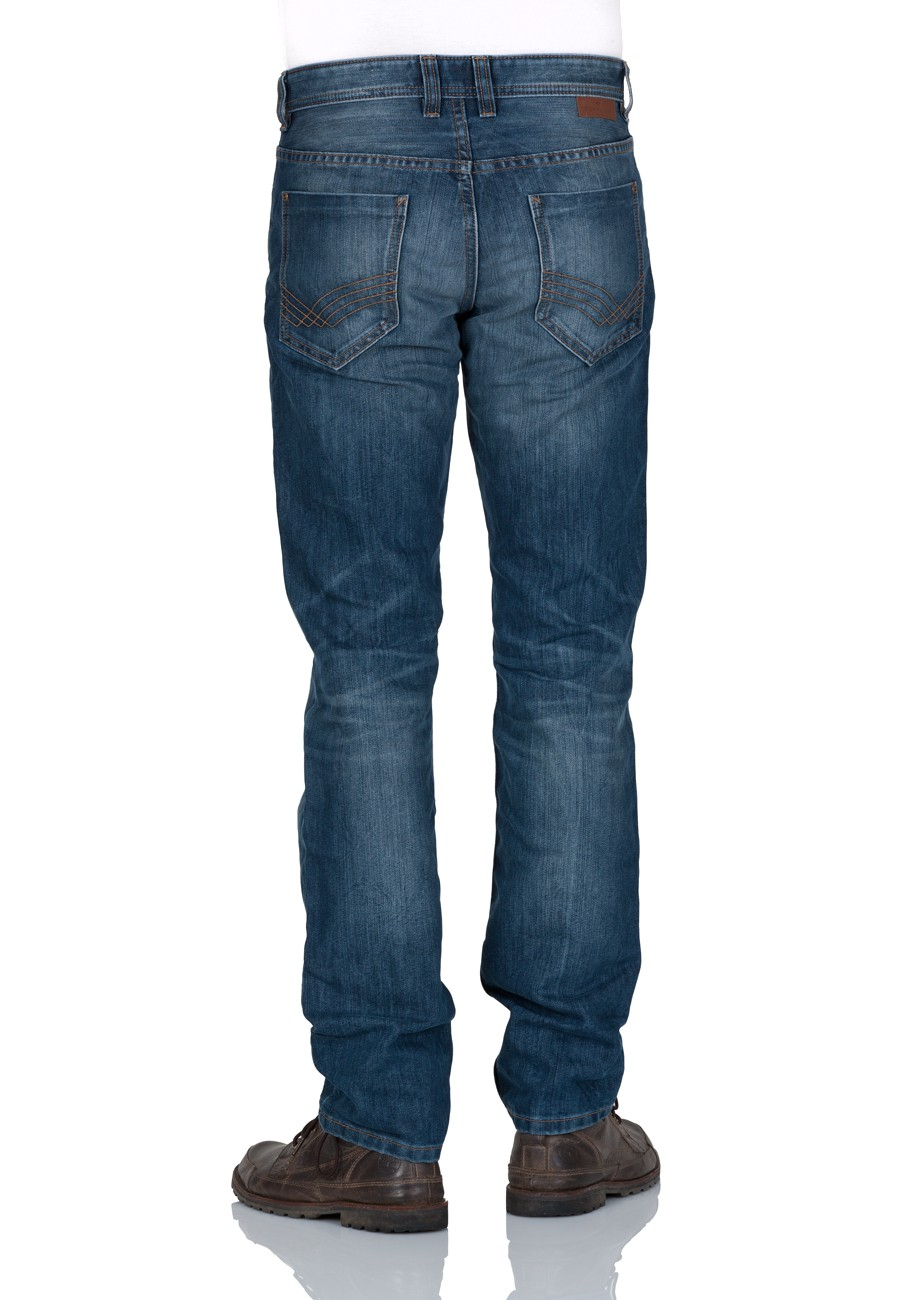 Tom Tailor Herren Jeans Marvin Straight Fit - Blau - Mid Stone Wash Denim