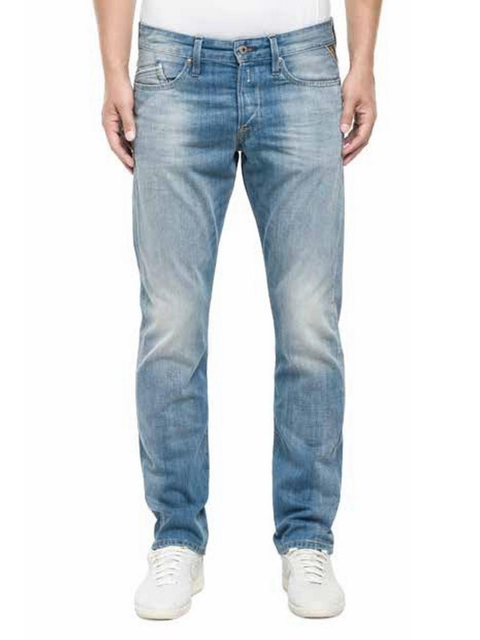 Replay Herren Jeans Waitom Regular Fit - Slim Leg - Blau - Deep Blue