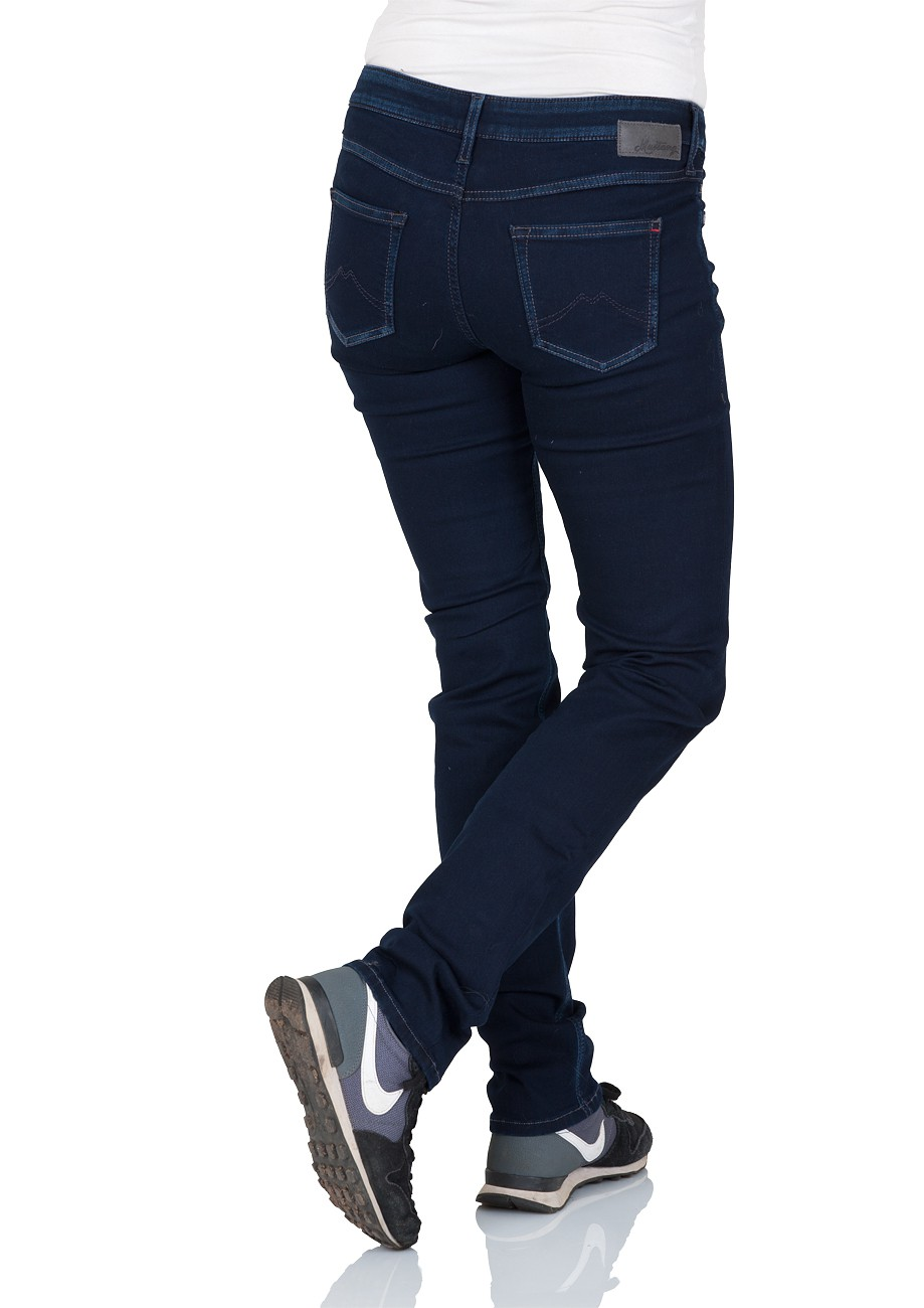 Mustang Damen Jeans Jasmin Slim Fit - Blau - Old Rinse