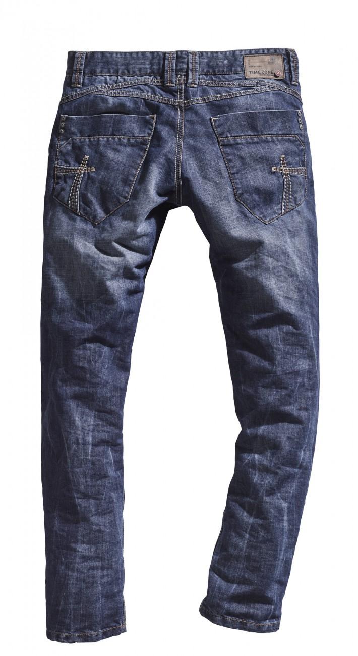 Timezone Herren Jeans HaroldTZ Regular Fit - Blau - Blue Waterline Wash