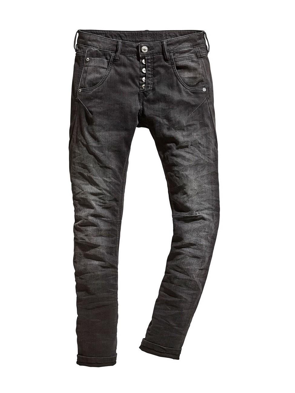 Timezone Damen Jeans RivaTZ - Slim Fit  - Schwarz - Black Soft Wash