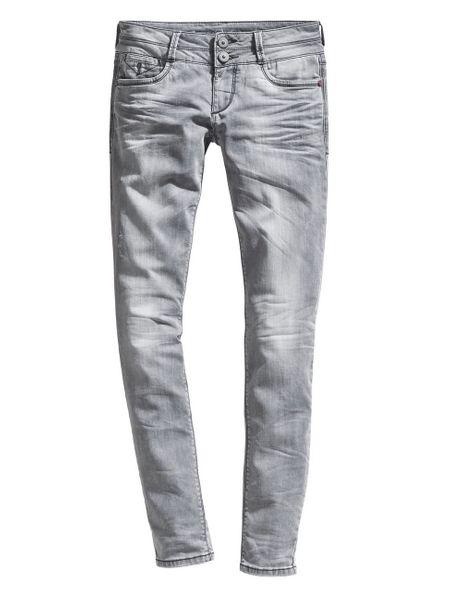 Timezone Damen Jeans EnyaTZ - Slim Fit  - Grau - Light Grey Wash