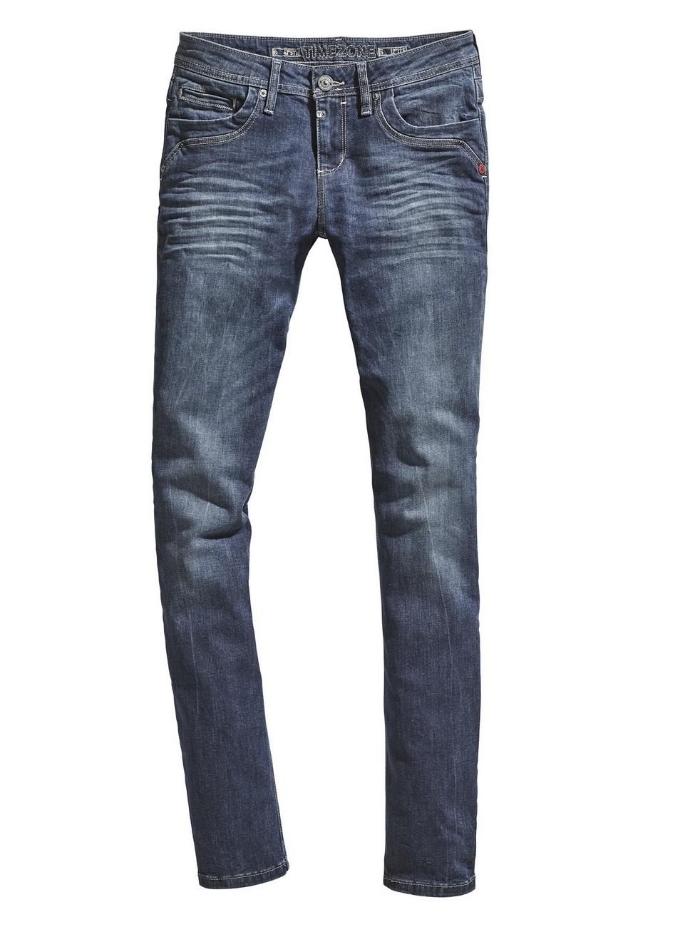 Timezone Damen Jeans TahilaTZ - Slim Fit - Blau - Surfer Wash