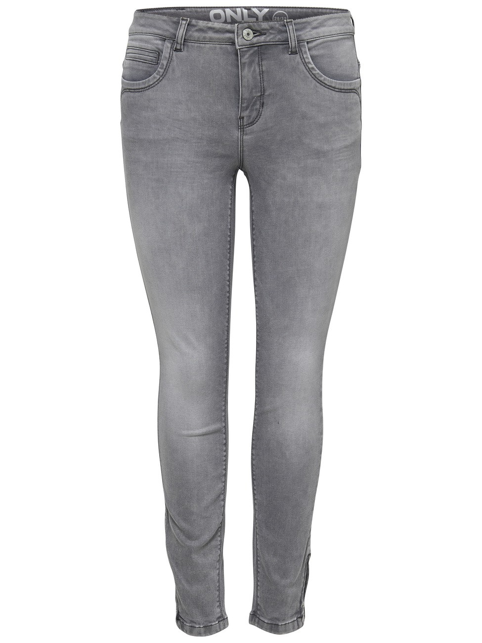 Only Damen Jeans onlKENDELL - Grey  - Grau - Medium Grey Denim