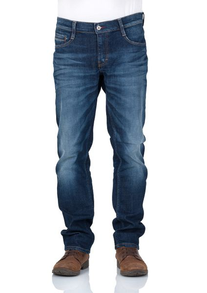 Mustang Herren Jeans Oregon Tapered - Blau - Dark Rinse Used